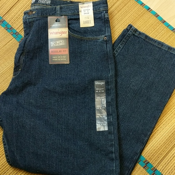 2753ddc7 Wrangler Jeans | Mens Blue Regular Nwt 4way Flex | Poshmark